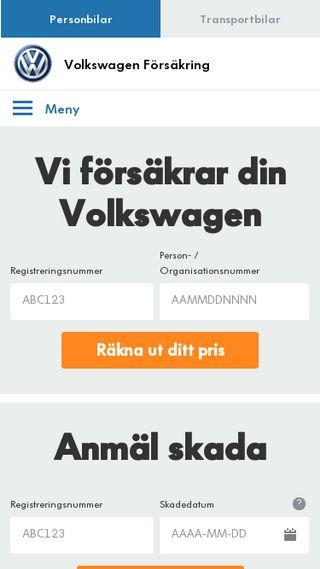 Mobile preview of volkswagenbilforsakring.se