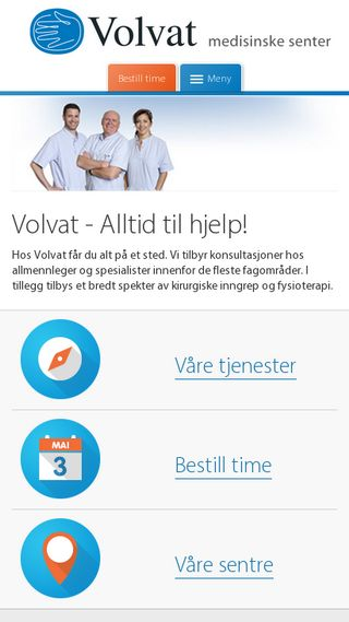 Mobile preview of volvat.no