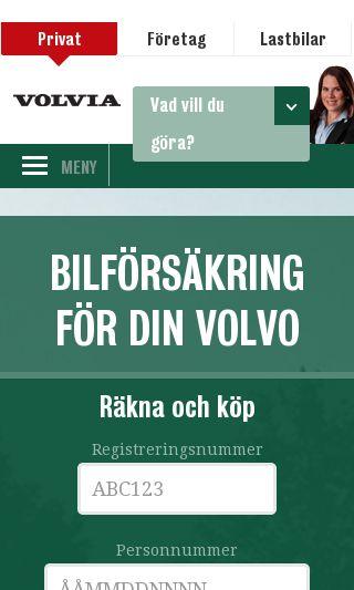 Mobile preview of volvia.se