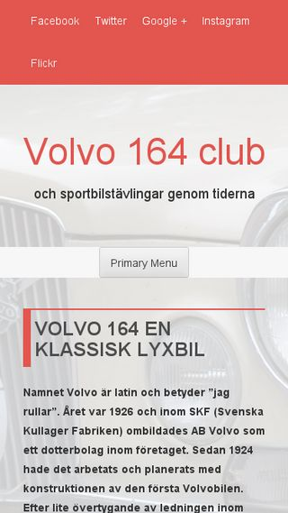 Mobile preview of volvo164club.se