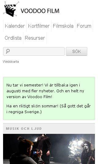 Mobile preview of regionalfilm.se
