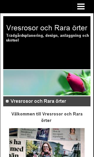 Mobile preview of vresrosor.se