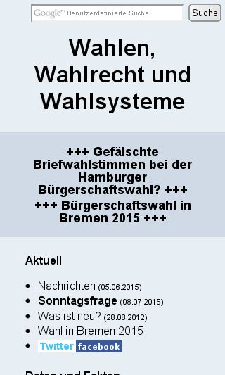 Mobile preview of wahlrecht.de