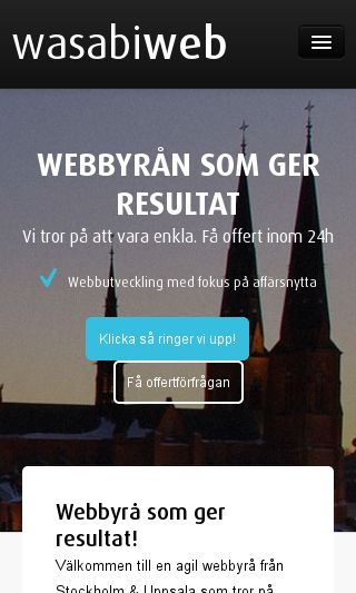 Mobile preview of wasabiweb.se