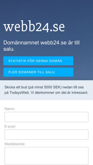 Mobile preview of webb24.se