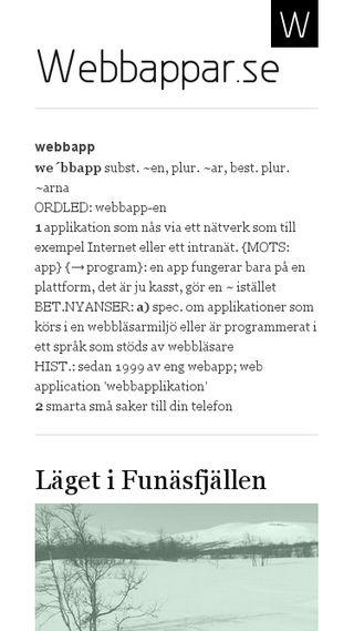 Mobile preview of webbappar.se