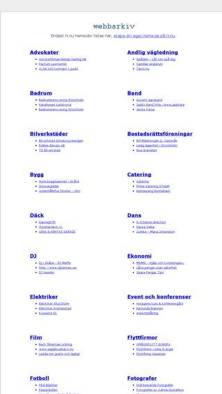 Mobile preview of webbarkiv.se