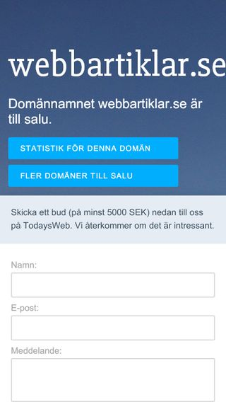 Mobile preview of webbartiklar.se