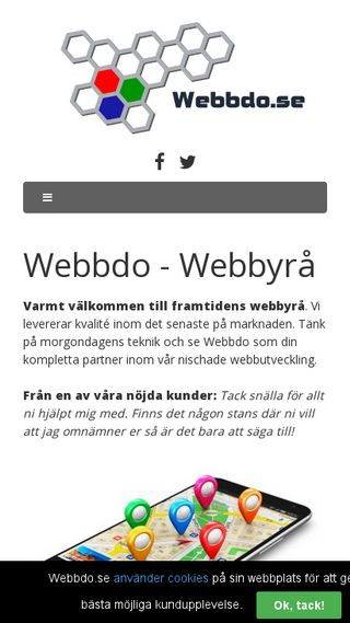 Mobile preview of webbdo.se