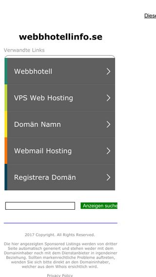 Mobile preview of webbhotellinfo.se