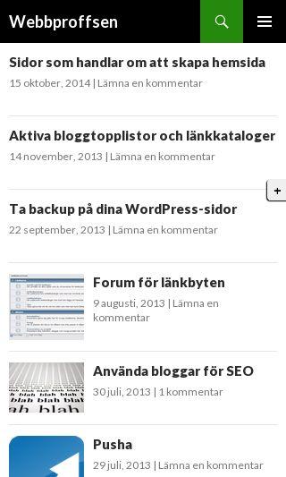 Mobile preview of webbproffsen.se