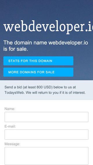 Mobile preview of webdeveloper.io