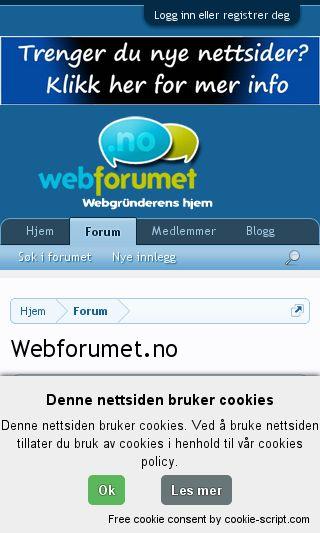 Mobile preview of webforumet.no