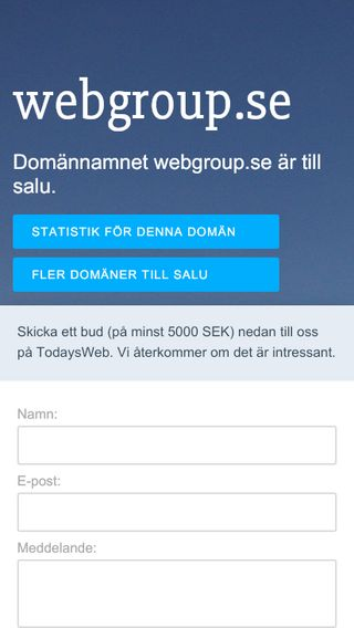 Mobile preview of webgroup.se