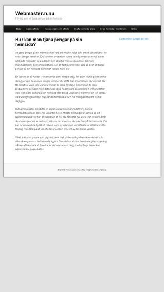 Mobile preview of webmaster.n.nu