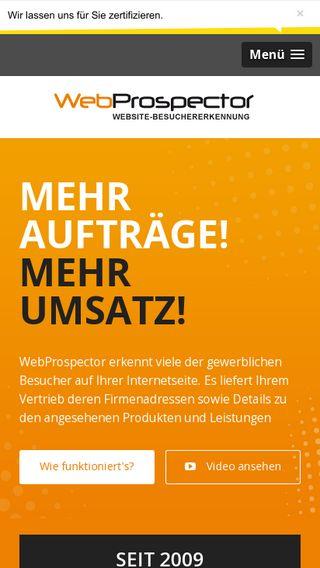 Mobile preview of webprospector.de