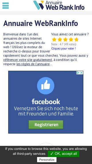 Mobile preview of webrankinfo.net