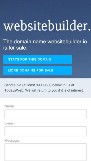 Mobile preview of websitebuilder.io