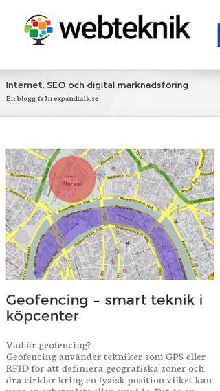Mobile preview of webteknik.se
