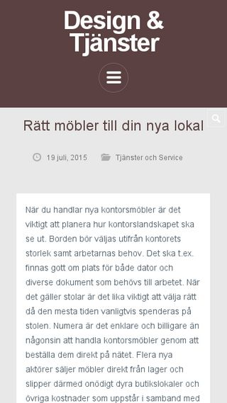 Mobile preview of webugglandesign.se