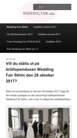 Mobile preview of weddingfairsthlm.se
