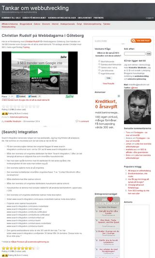 Mobile preview of wedholm.net