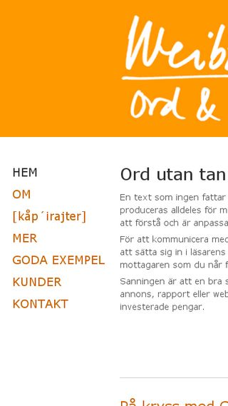 Mobile preview of weibull-ord.se