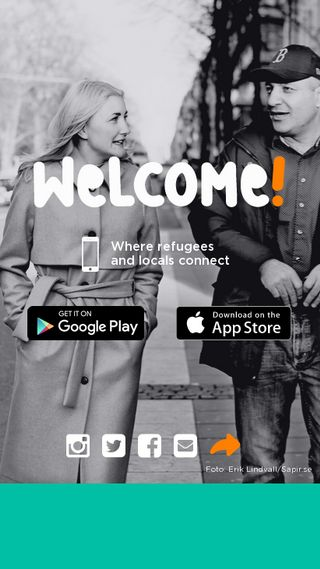 Mobile preview of welcomeapp.se