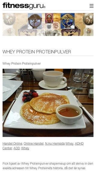 Mobile preview of whey.fitnessguru.com
