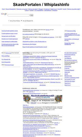 Mobile preview of whiplashinfo.se
