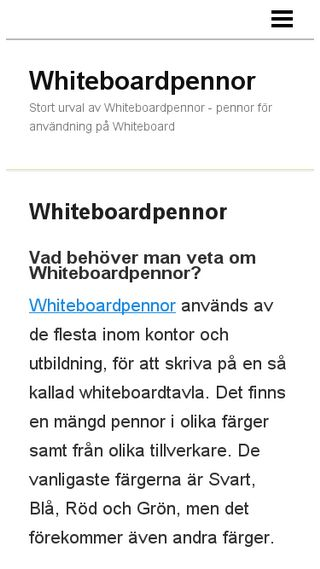 Mobile preview of whiteboardpennor.n.nu