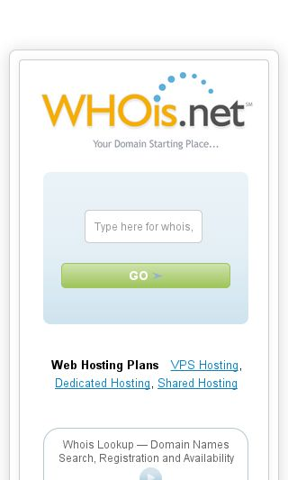 Mobile preview of whois.net