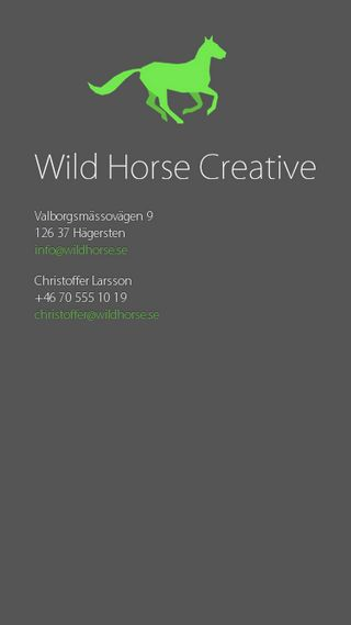 Mobile preview of wildhorse.se