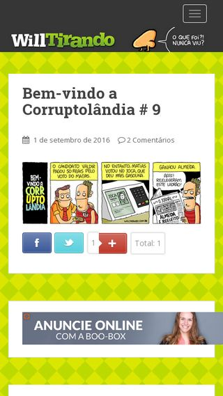 Mobile preview of willtirando.com.br