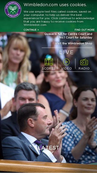 Mobile preview of wimbledon.com