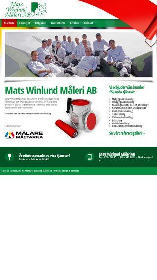 Mobile preview of winlundmaleri.se