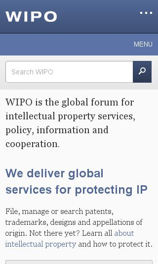 Mobile preview of wipo.int