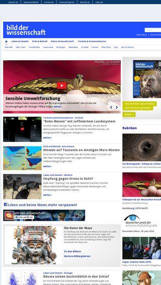 Mobile preview of wissenschaft.de