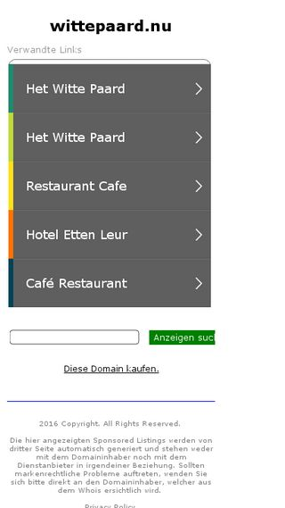 Mobile preview of wittepaard.nu
