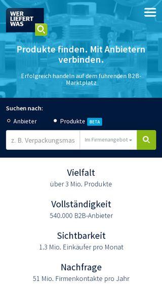 Mobile preview of wlw.de