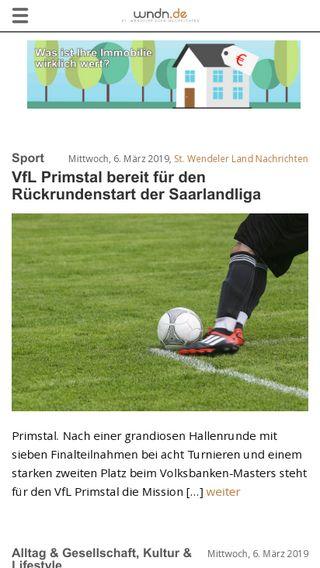 Mobile preview of wndn.de