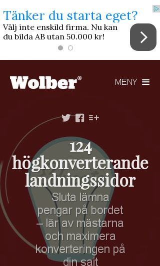 Mobile preview of wolber.se