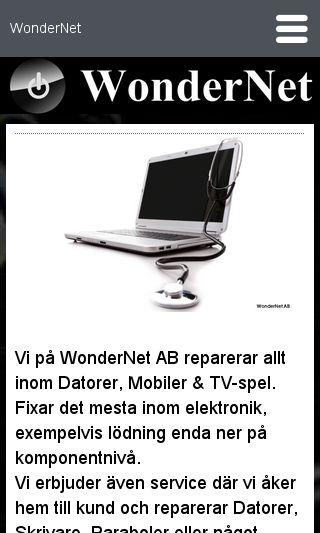 Mobile preview of wondernet.eu