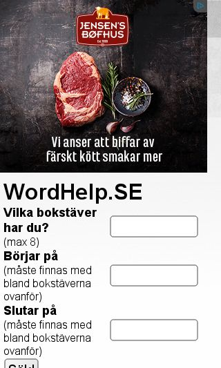 Mobile preview of wordhelp.se