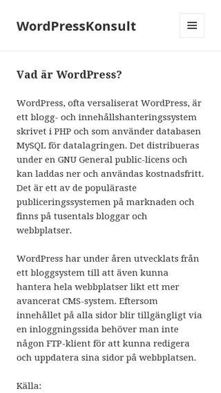 Mobile preview of wordpresskonsult.nu