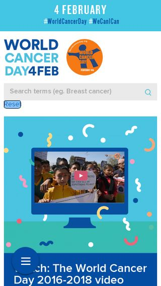 Mobile preview of worldcancerday.org