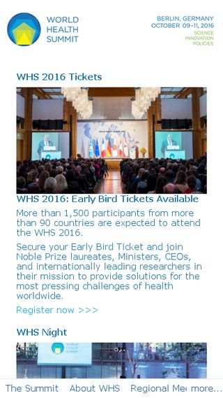 Mobile preview of worldhealthsummit.org