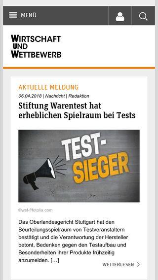 Mobile preview of wuw-online.de