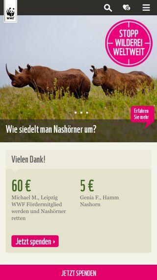 Mobile preview of wwf.de