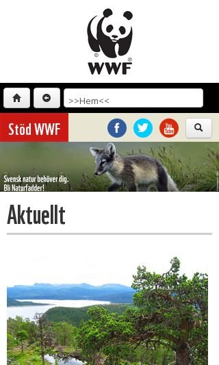 Mobile preview of wwf.se